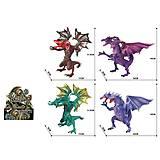 """Игрушка """"Дракон двухголовый"""" 11 см в ассортименте, Q9899-419, фото"""