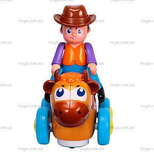 Детская игрушка «Ковбой на диком быке», 838B, фото
