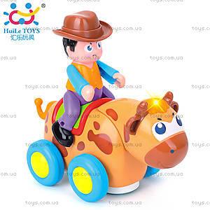 Детская игрушка «Ковбой на диком быке», 838B