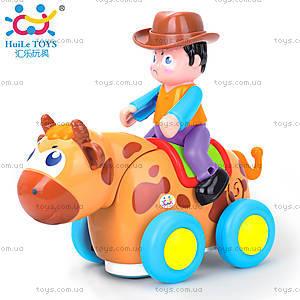 Детская игрушка «Ковбой на диком быке», 838B, цена