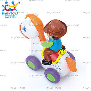 Игрушка Huile Toys «Ковбой на веселой лошади», 838A, фото