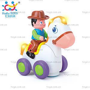 Игрушка Huile Toys «Ковбой на веселой лошади», 838A