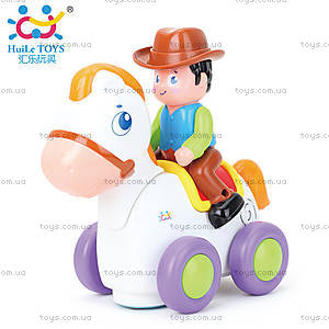 Игрушка Huile Toys «Ковбой на веселой лошади», 838A, цена