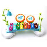 Игрушечный ксилофон «Радуга», 909, фото