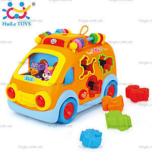 Игрушка Huile Toys «Веселый автобус», 988, купить