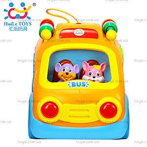 Игрушка Huile Toys «Веселый автобус», 988, цена