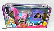 Игрушка карета с лошадью и куклой, 686-714, фото