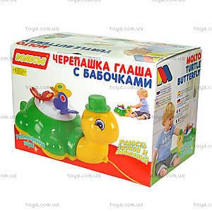 Игрушка-каталка «Черепашка Глаша с бабочками», 9172, купить