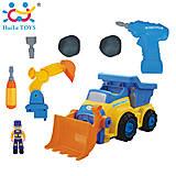Игрушка-конструктор Huile Toys «Строительная машина», 566AB, купить