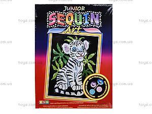 Игрушка Мозаика блестками «Белый тигр», 0906-KSG, фото