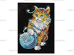 Игрушка Мозаика блестками «Котик», 0430-KSG, фото
