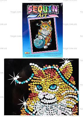 Игрушка Мозаика блестками «Котик», 0430-KSG