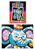 Игрушка Мозаика блестками «Слоник», 0709-KSG, отзывы