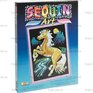 Игрушка Мозаика блестками «Золотая Лошадка», 0701-KSG