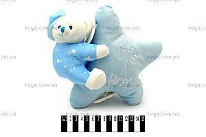 Игрушка Мишка на подушке-звездочке, 7757-22