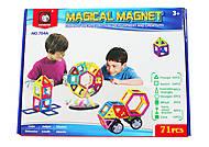Игрушка на магнитах из 71 деталей, 1552854_704A, детские игрушки