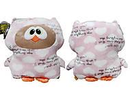 Игрушка-подушка «Сова Софтик», К409А, купить