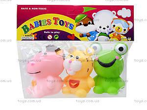 Игрушка-пищалка «Животные», 363364, игрушки
