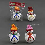Игрушка Снеговик в зимней шапке, C22192, фото