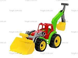 Игрушка «Трактор с двумя ковшами», 3671