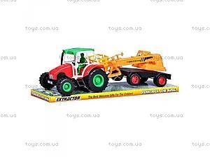 Игрушка трактор с прицепом «Фермер», 168-7