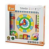 Игрушка Viga Toys «Часы и Календарь», 59872, купить игрушку