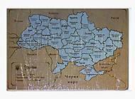 Игрушка из дерева «Карта Украины», , фото