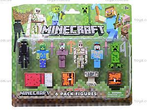 Игрушки «Майнкрафт», 6 штук, 14187, купить