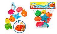 Игрушки-пищалки для ванной «Водные жители» BeBeLino, 55057