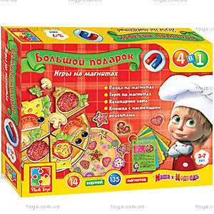 Игра на магнитах «Готовим с Машей и Медведем», VT3002-01, игрушки