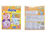 Детское лото со Смешариками, VT2105-02, детские игрушки