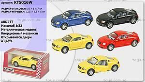 Инерционная машина Audi TT Coupe, KT5016W, детские игрушки