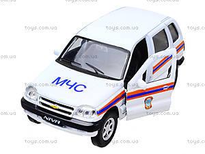 Инерционная машина Chevrolet Niva «МЧС», 42379RE-W, игрушки