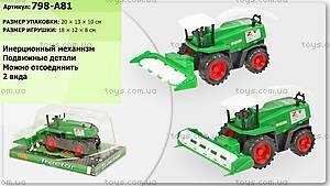 Инерционная машина «Комбайн» для детей, 798-A81