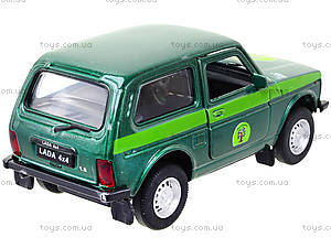 Инерционная машина Lada 4x4 «Лесоохрана», 42386FC-W, игрушки