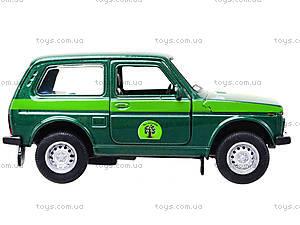 Инерционная машина Lada 4x4 «Лесоохрана», 42386FC-W, toys.com.ua