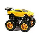 Инерционная машина «Lamborghin» с большими колесами желтая, MH168-6
