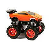 Инерционная машина «Lamborghini» с большими колесами оранжевая, MH168-6, фото