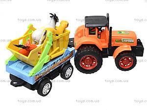 Инерционная машина «Трактор с прицепом», 906-172, фото