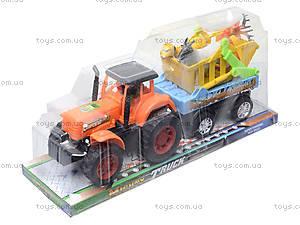 Инерционная машина «Трактор с прицепом», 906-172, игрушки