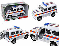 Инерционная машина УАЗ «МЧС», 9076-F, купить игрушку