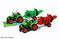 Инерционная игрушка «Трактор с прицепом», 2014-77, фото