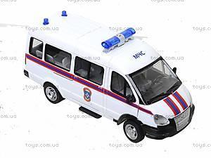 Инерционный автобус МЧС серии «Автопарк», 9689-D, игрушки