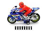 Инерционный мотоцикл с водителем, 8227, фото