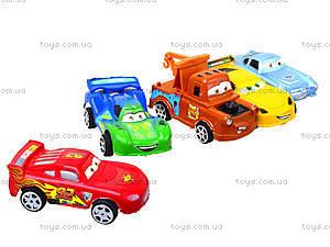 Инерционный набор машин «Тачки», 399-3A4, игрушки