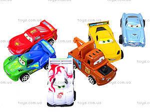 Инерционный набор машин «Тачки», 399-3A4, детские игрушки