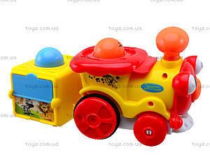 Инерционный паровозик с музыкальным эффектом, 1288AB, игрушки