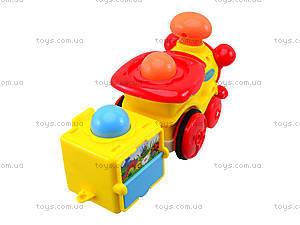 Инерционный паровозик с музыкальным эффектом, 1288AB, детские игрушки