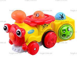 Инерционный паровозик с музыкальным эффектом, 1288AB, магазин игрушек