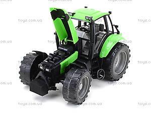 Инерционный трактор, для детей «Фермер», 1089B, детские игрушки
